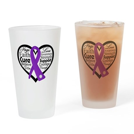 Hope Heart Alzheimers Pint Glass