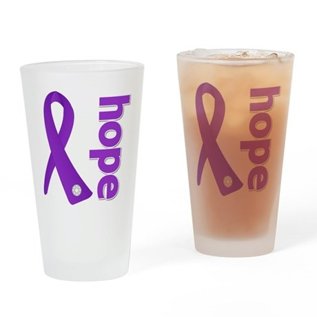 Hope Ribbon Alzheimers Pint Glass
