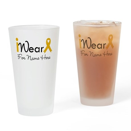 Personalize Appendix Cancer Pint Glass