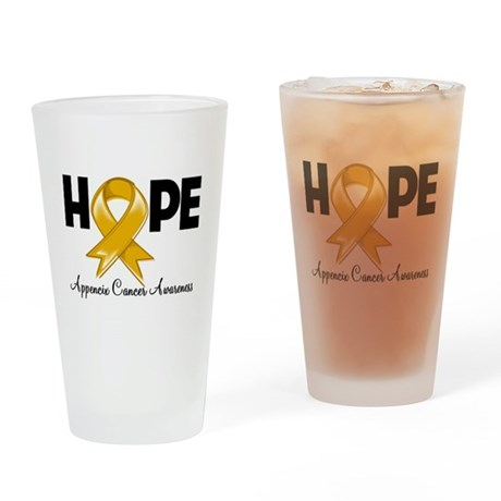 Hope Appendix Cancer Pint Glass