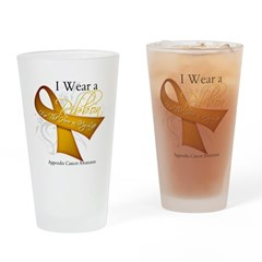 Ribbon Hero Appendix Cancer Pint Glass