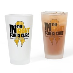 In The Fight Appendix Cancer Pint Glass