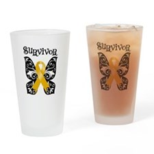 Butterfly Appendix Cancer Pint Glass