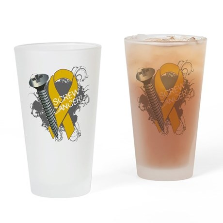Screw Appendix Cancer Pint Glass
