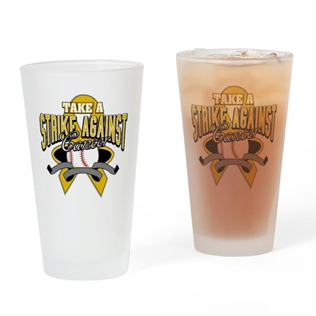 Take Strike Appendix Cancer Pint Glass