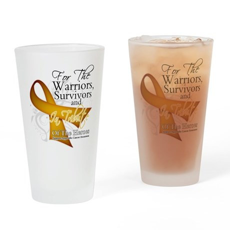 In Tribute Appendix Cancer Pint Glass