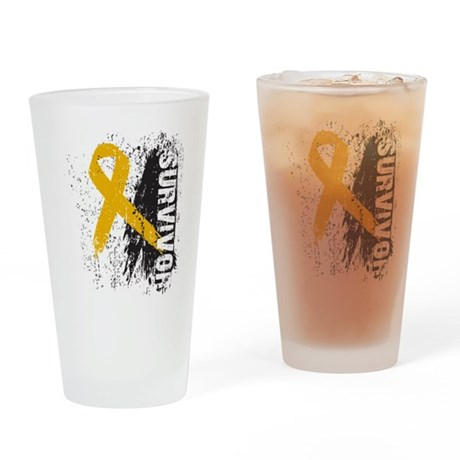 Survivor Appendix Cancer Pint Glass