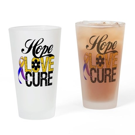 Hope Love Cure Bladder Cancer Pint Glass