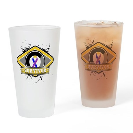 Bladder Cancer Survivor Pint Glass