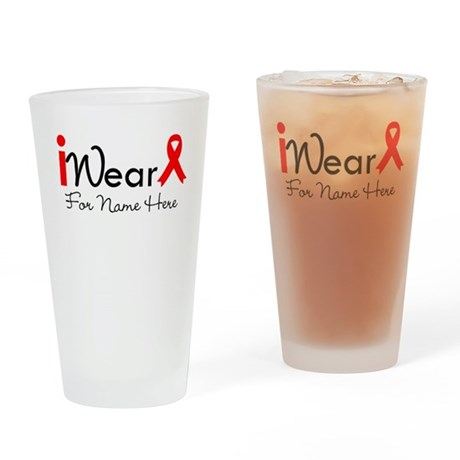 Personalize Blood Cancer Pint Glass