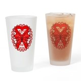 Blood Cancer Butterfly Pint Glass