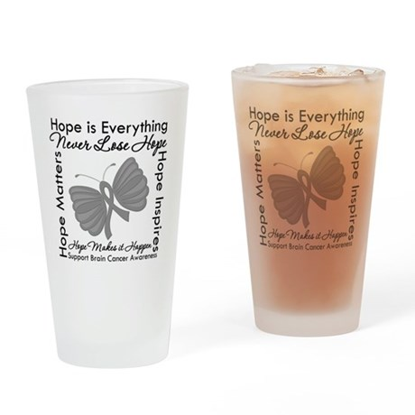 HopeisEverything BrainCancer Pint Glass