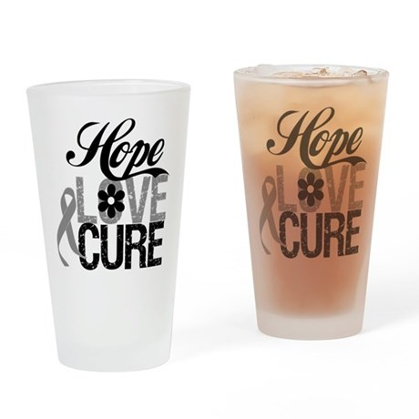 HopeLoveCure Brain Cancer Pint Glass