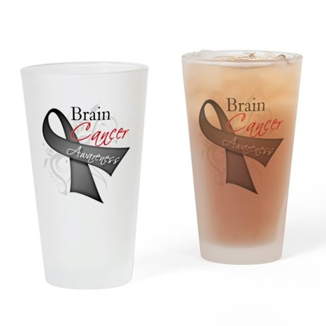 Brain Cancer Awareness Pint Glass