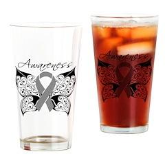 Awareness Butterfly Pint Glass