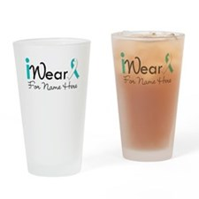 Personalize Cervical Cancer Pint Glass