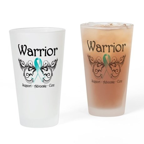 Warrior Cervical Cancer Pint Glass