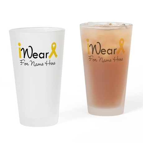 Personalize Childhood Cancer Pint Glass