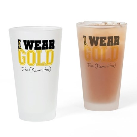 Custom Childhood Cancer Pint Glass