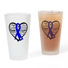 Heart Collage Colon Cancer Pint Glass