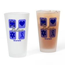 Believe Colon Cancer Pint Glass