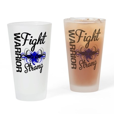 Warrior Colon Cancer Pint Glass