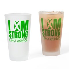 I am Strong Bile Duct Cancer Pint Glass