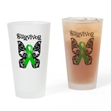 Bile Duct Cancer Butterfly Pint Glass