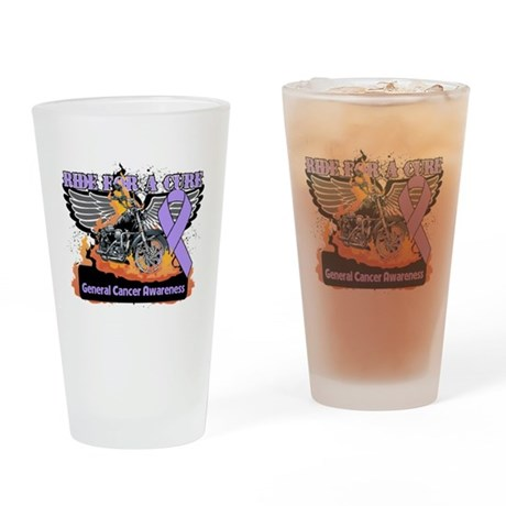 Ride For a Cure Cancer Awaren Pint Glass