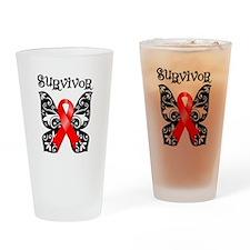 Butterfly Heart Disease Pint Glass