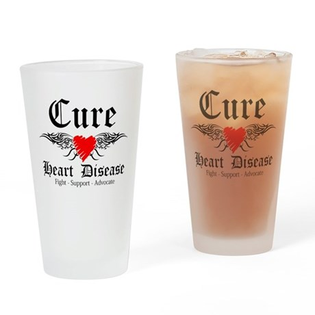 Cure Heart Disease Pint Glass