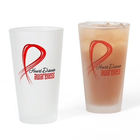 Heart Disease Awareness Pint Glass