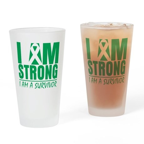 I am Strong Liver Cancer Pint Glass