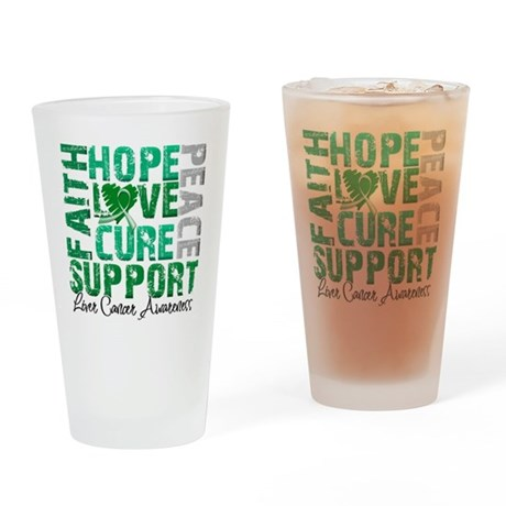 Hope Liver Cancer Pint Glass