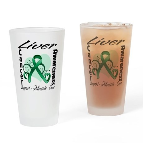 Liver Cancer Awareness Pint Glass