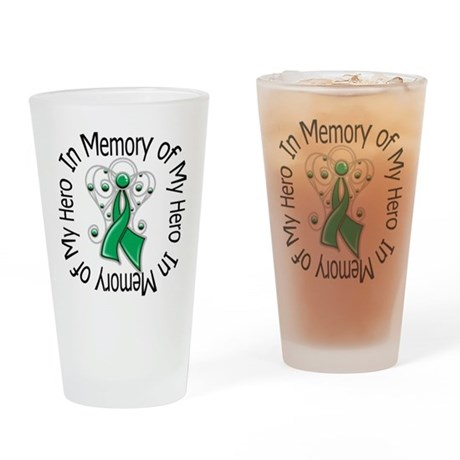 In Memory Hero - Liver Cancer Pint Glass