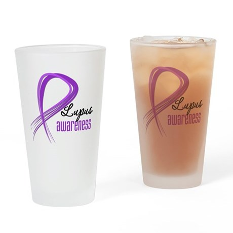 Lupus Grunge Ribbon Pint Glass