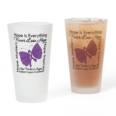 Lupus Hope Is Everything Pint Glass