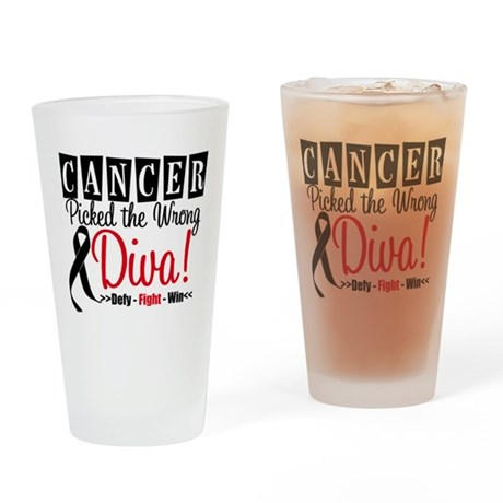Wrong Diva Melanoma Pint Glass