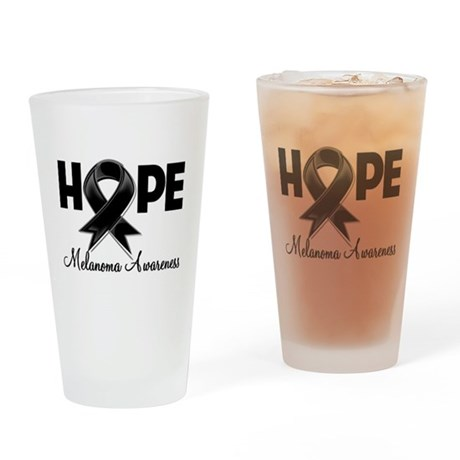 Hope Ribbon Melanoma Pint Glass