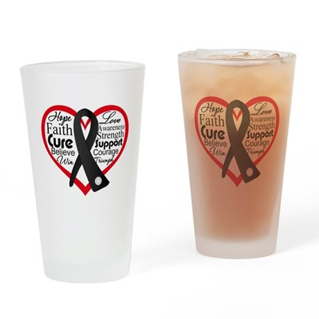 Heart Ribbon Melanoma Pint Glass