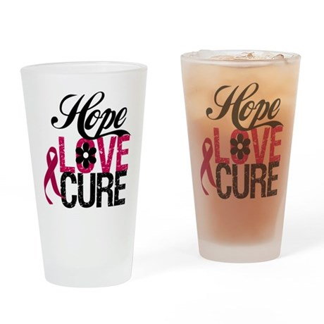 Hope Love Cure Myeloma Pint Glass