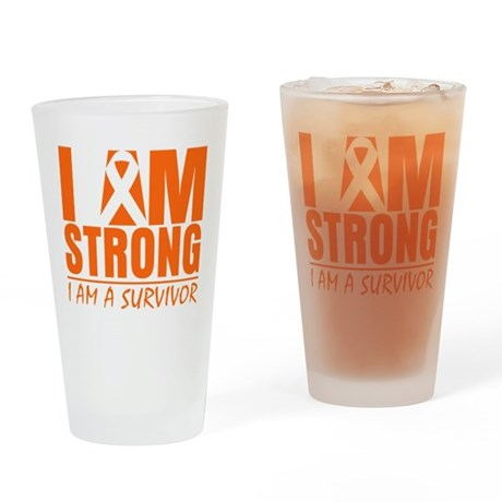 I am Strong Multiple Sclerosi Pint Glass