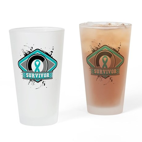 Ovarian Cancer Survivor Pint Glass