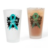 Fighting Back Ovarian Cancer Pint Glass