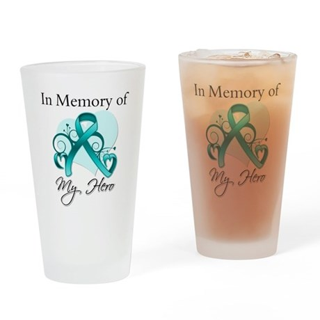 In Memory Hero Ovarian Cancer Pint Glass