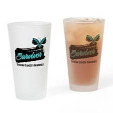 Ovarian Cancer Survivor Drinking Glass