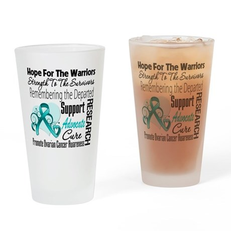 Hope Tribute Ovarian Cancer Pint Glass