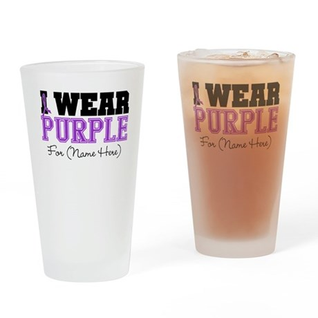 Custom Pancreatic Cancer Pint Glass