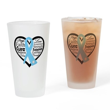 Prostate Cancer Heart Pint Glass